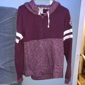 Pink VS Maroon zip up jacket